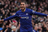 Eden Hazard celebrates scoring against Huddersfield Town