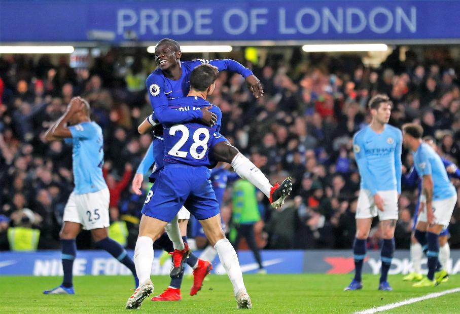N'Golo Kante v Man City