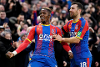 Crystal Palace's Wilfried Zaha celebrates scoring against West Ham United