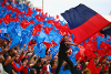 Crystal Palace fans wave flags at Selhurst Park