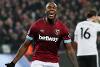 Michail Antonio scores for West Ham against Fulham
